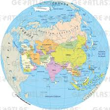 asia globe map asia globe map major tourist attractions maps