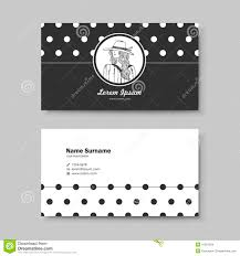 Classic Name Card Design Vector Business Card Design Template Of Classic Black Stock Vector