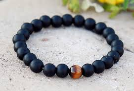 mens bracelet black beads images Mens beaded bracelet mens bracelet black obsidian bracelet jpg