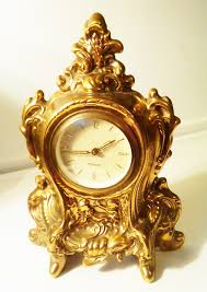 decorative clock antique mercedes brass mantle clock west germany regency