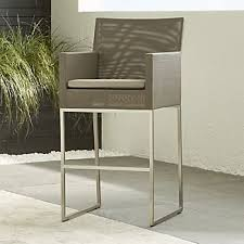 Outdoor Bar Table And Stools Outdoor Bar Stools Crate And Barrel