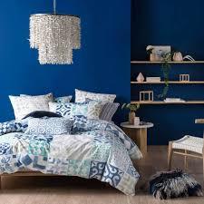 kavala indigo quilt cover u0026 pillowcase set by linen house single bed