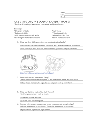 cell biology quest study guide and tips middle science at