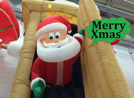 walmart christmas inflatables animated airblown santa coming out