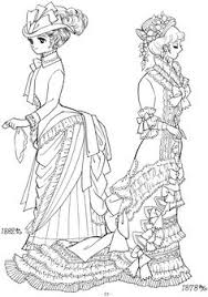 victorian ladies coloring page coloring pinterest