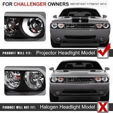 Dodge Challenger Xenon Headlights - for xenon hid model 2008 2014 dodge challenger ccfl halo black