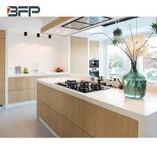 wood grain kitchen cabinet doors china high end kitchen cabinet with island wood grain hpl