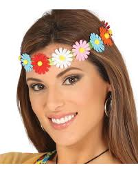 hippie flower headbands colorful hippie flower headband for carnival horror shop