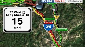 interstate 26 map crash slows i 26 traffic wlos