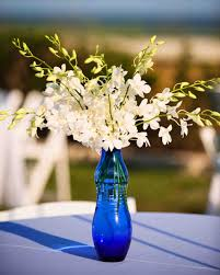 blue centerpieces 39 simple wedding centerpieces martha stewart weddings