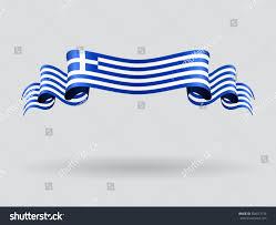 Greek Flag Background Greek Flag Wavy Abstract Background Raster Stock Illustration