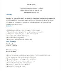 free teacher resume templates word teacher resume template word free templates sle exle format