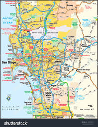 Maps San Diego by San Diego California Area Map Stock Vector 138845312 Shutterstock