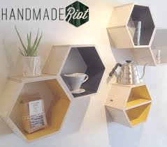 diy hexagon wall shelves the easy way making lemonade