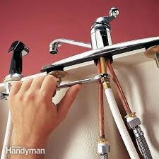 Changing A Kitchen Sink Faucet Installing A Kitchen Sink Hicro Club