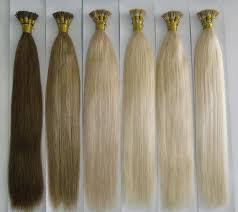 human hair extension nail u flat tip human hair keratin hair extension 22inch 2 4 613