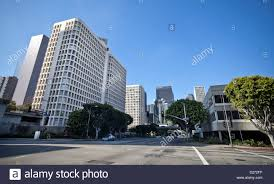 Modern Buildings Modern Buildings In Downtown Los Angeles Business District Stock
