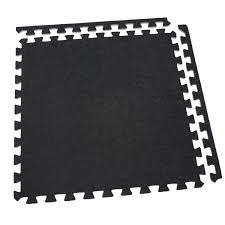 Exercise Floor Mats Over Carpet by Incstores Eco Soft Carpet Foam Tiles 4 Tiles Black Portable