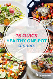 Healthy Menu Ideas For Dinner One Pot Meals For Quick Healthy Dinners