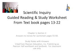 chapter 1 section 2 answers to review for worksheet pages ppt