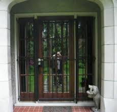 French Security Doors - wrought iron french doors victoria homes design