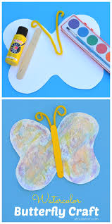 watercolor butterfly craft for kids about a mom