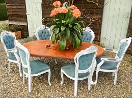 innovative shabby chic dining table set in home renovation ideas