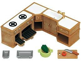 sylvanian families 5222 stove sink and counter kitchen set