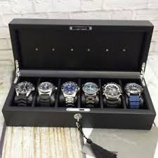 charging box watch storage charging box for solar eco drive watches led lights