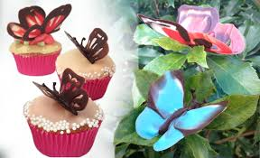 Chocolate Butterfly Decorations Tutorial HOW TO COOK THAT Ann