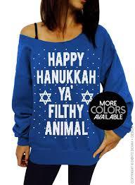 hanukkah clothing happy hanukkah ya filthy animal women s clothing