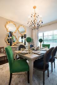 amanda carol interiors emerald green gold mirrors weathered wood