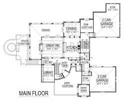 european style house plan 4 beds 5 50 baths 6102 sq ft plan 458 8