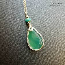 green agate necklace images Silver wire wrapped green agate stone pendant necklace wire jpg