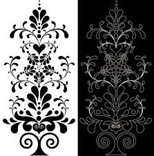 black seamless lace and ornaments vector 01 vector frames
