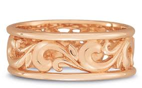 carved wedding bands paisley carved wedding band in 14k gold