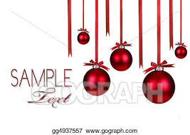 clipart ornaments hanging with bows stock