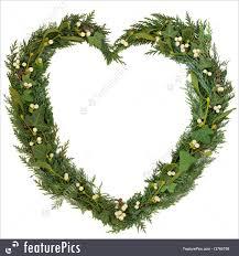 heart wreath mistletoe heart wreath photo