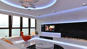 apartment cool apartment interior design with panoramic glass windows apartment design interior in poland integrating a sophisticated interior ideas using modern neon lighting and modern