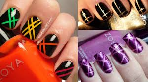15 interesting nail designs with striping tape makeup tutorial