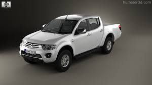 mitsubishi l200 2014 360 view of mitsubishi l200 triton double cab hpe 2014 3d model