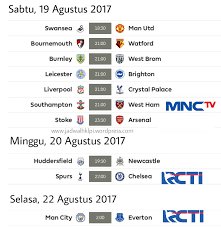 Jadwal Liga Inggris Jadwal Pertandingan Siaran Langsung Liga Primer Inggris Pekan 2 Di