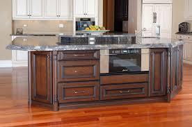 finished oak kitchen cabinets lighter cherry finish kitchen cabinets railing stairs and kitchen