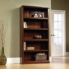Sauder Premier 5 Shelf Composite Wood Bookcase Sauder Bookcase Cherry