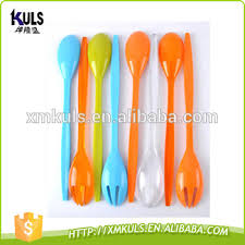 fourchette cuisine réutilisable durable ps en plastique salade fourchette et cuillère