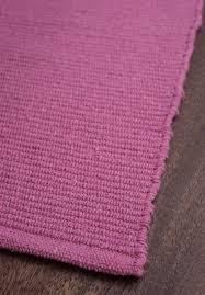 Lilac Rug Solid Bright Pink Flatweave Eco Cotton Rug Hook U0026 Loom