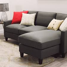 Sofa Come Bed Furniture Charcoal Gray Textured Woven Abbott Sofa World Market