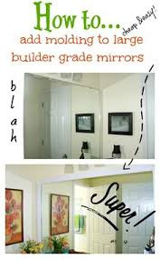 Cheap Bathroom Mirrors by Diy Mirror Easy Upgrade House Apartments And Bath
