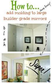 framing those boring mirrors bathroom mirrors powder room and easy