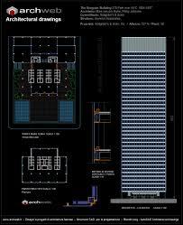seagram building autocad plan 2d